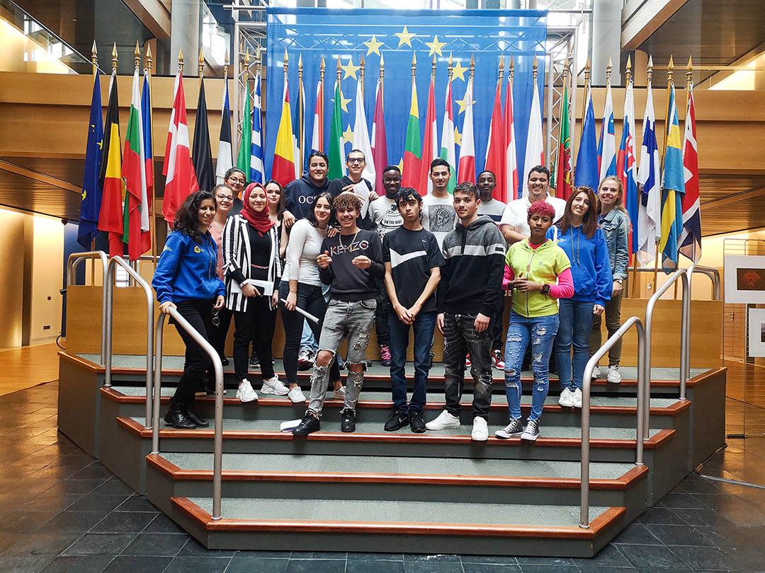 Un groupe de l'e2c67 visite le parlement européen à Strasbourg