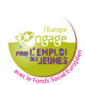 Logo l'Europe s'engage pour l'emploi des jeunes avec le FSE