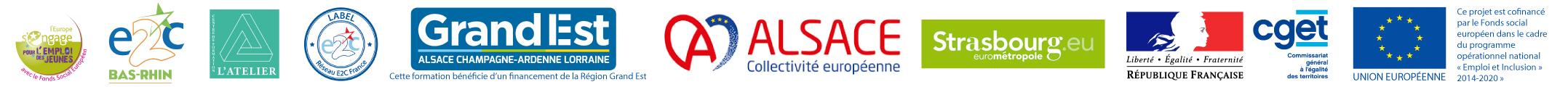 Logo partenaires E2C67 2021